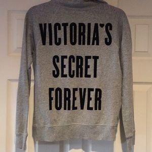 """VICTORIA'S SECRET """"FOREVER"""" ZIP OVER SWEATSHIRT"""